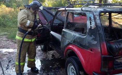 сгоревший авто