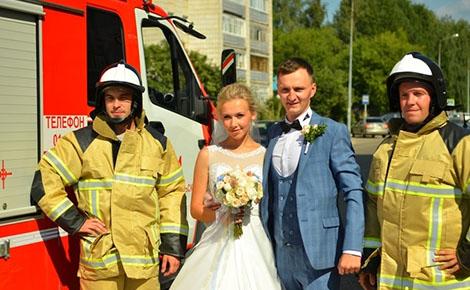 свадьба с огоньком